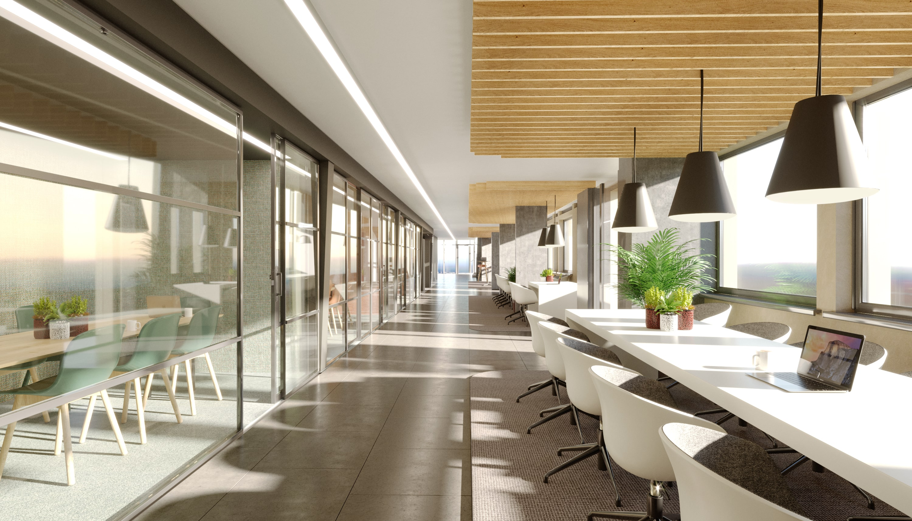 interior visualisation - meeting rooms cgi 3 altrincham
